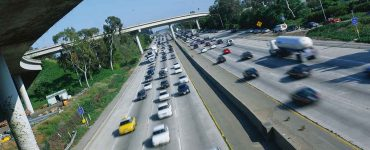 Interstate 405 and 10 during rush hour in Los Angeles
